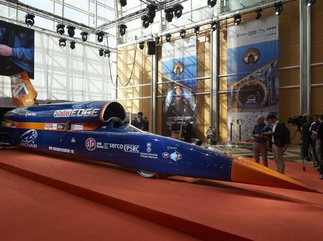 London,Canary Wharf,Bloodhound Supersonic car