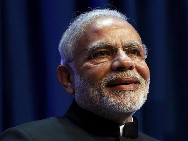 File photo of Prime Minister Narendra Modi speaking at a news conference in Dublin.