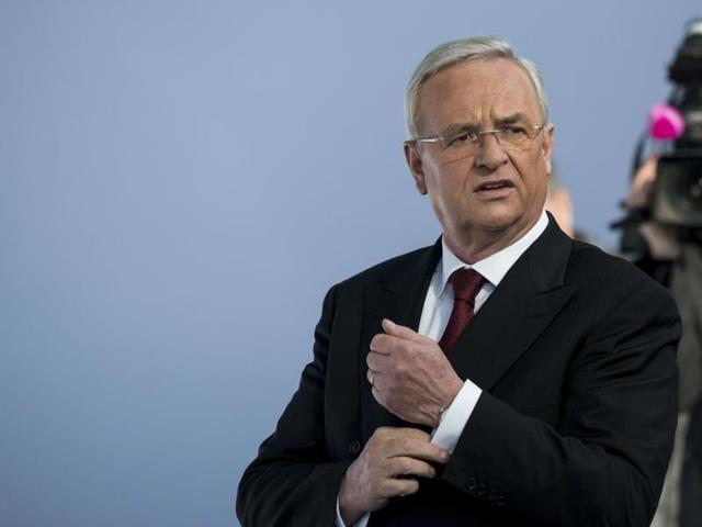 Volkswagen Chief Executive Martin Winterkorn speaks at the annual news conference of Volkswagen in Berlin, in this file picture taken March 12, 2015. Winterkorn resigned on September 23, 2015, taking responsibility for the German carmaker's rigging of US emissions tests in the biggest scandal in its 78-year history (REUTERS Photo)