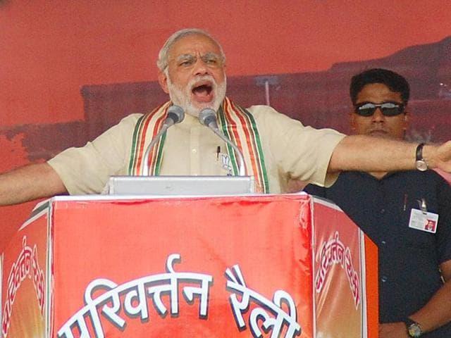 File photo of Prime Minister Narendra Modi addressing a BJP rally in Bhagalpur, Bihar.