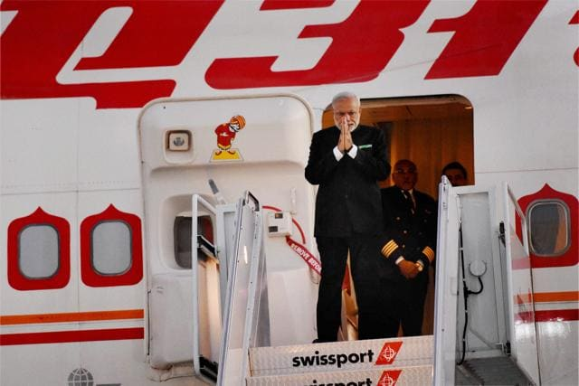 Prime Minister Narendra Modi at John F Kennedy International Airport in New York on Wednesday.