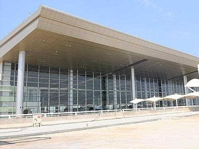 Entrance to the Chandigarh International Airport