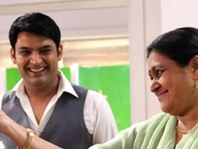 Kapil Sharma and Supriya Pathak in a still from Kis Kisko Pyaar Karoon.