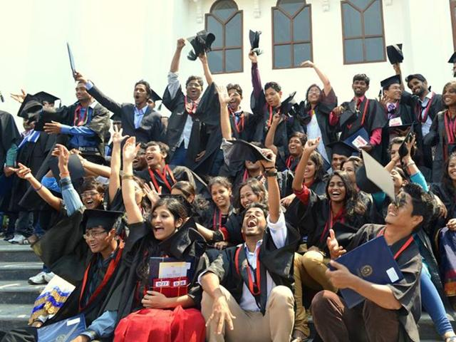 A file photograph of last year's convocation at the Hyderabad University.
