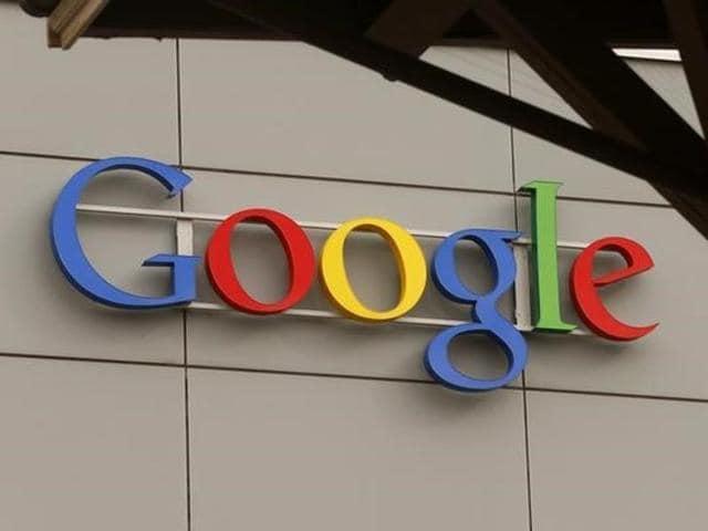 A logo of Google at its European Engineering Center in Zurich.