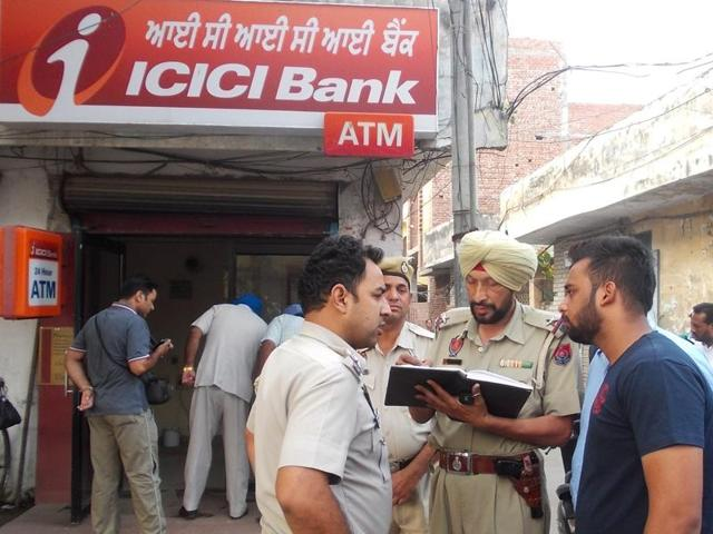 ATM robbery,Jalandhar,Uprooting ATM