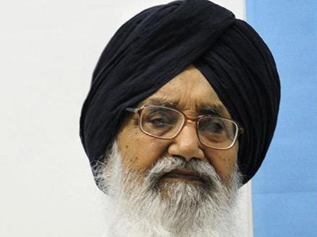 Punjab chief minister Prakash Singh Badal.