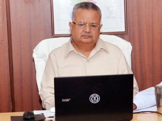 Chhattisgarh chief minister Raman Singh during the Facebook interaction session.