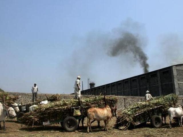 File photo of Malegaon sugar co-operative in Baramati in Maharashtra.(Satish Bate/HT photo)