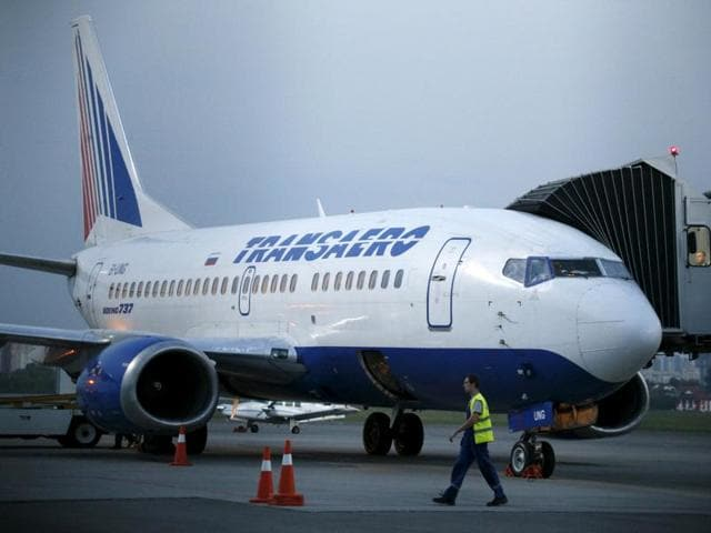 Ukraine is banning flights by Russian airlines from October 25 as part of a wave of sanctions against Russia over its support for separatists in the east of the country, the government said.
