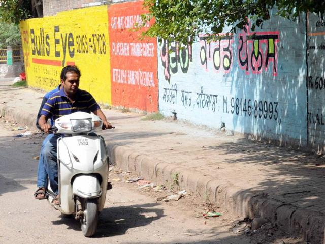 Defacement of property,Grafitti on walls,Patiala
