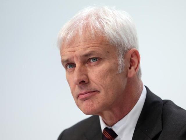New Volkswagen boss  Matthias Mueller.