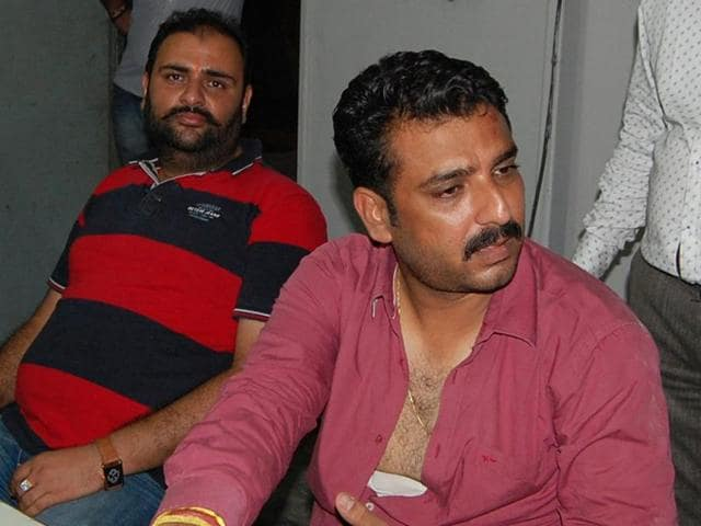 Gaurav Bhandari (R) BJP district press secretary who was injured in attack by unidentified persons in Amritsar on Friday.