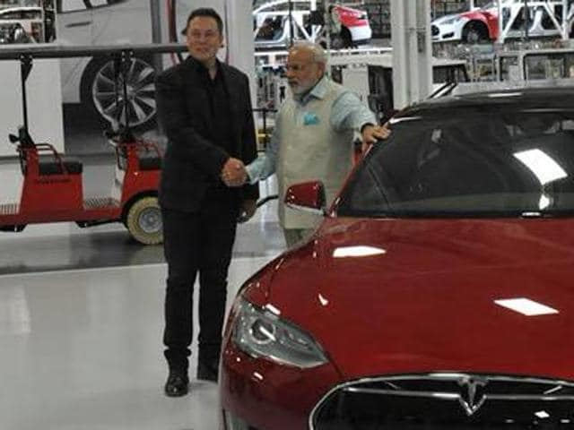 Modi in US,Modi Silicon Valley tour,Tesla Motors