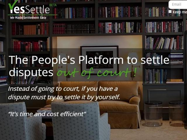 YesSettle, an online platform by Chandigarh-based lawyer, help settle disputes between two sets of people  out of court.