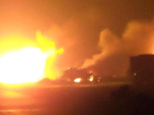 Blast in firecracker godown