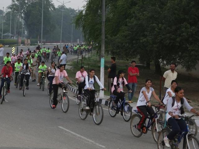 Cycle Rally,Bhagat Singh,108th birth Anniversary