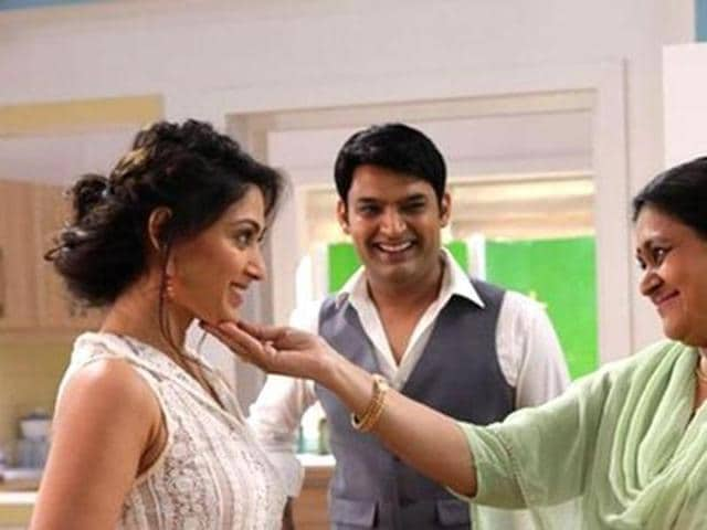 Supriya Pathak and Kapil Sharma in a still from Kis Kisko Pyaar Karoon.