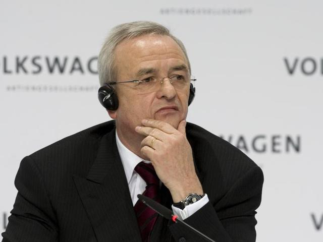 In this March 12, 2009 file photo Martin Winterkorn, chairman of the board of the Volkswagen group, during the annual press conference in Wolfsburg, northern Germany.