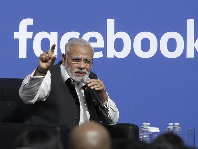 Modi at Facebook HQ