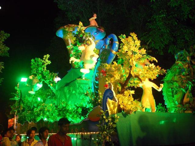 Anant Chaturdashi,Ganpati tableaux,Ganeshotsav