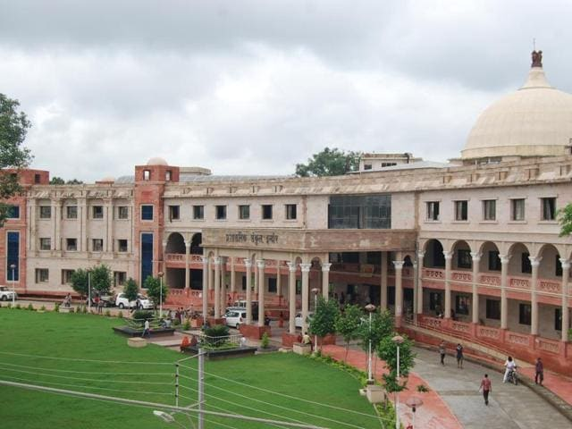 The Indore collectorate building, which houses the department of stamps and registration fees.