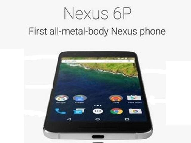Dave Burke, vice president of engineering at Google, unvels the new Google Nexus 6P in San Francisco.