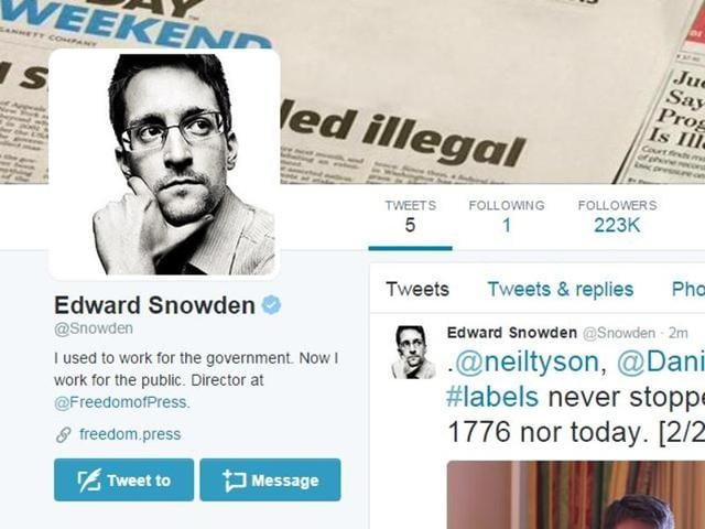 """Within an hour after posting his first tweet, """"Can you hear me now?"""" he had registered more than 1,60,000 followers, while following only one– the NSA's official account. Renowned journalists and leading international media organisations, political leaders and civil society organisations followed him within minutes of his first tweet."""
