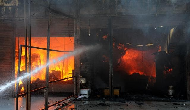 Jalandhar: Honda workshop at Ladowali road gutted in fire