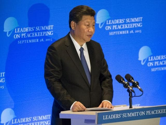 Xi Jinping,UN peacekeeping forces,UN General Assembly