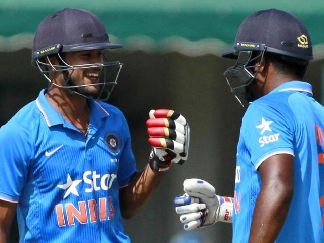 India A vs South Africa practice match,Mayank Agarwal,Sanju Samson