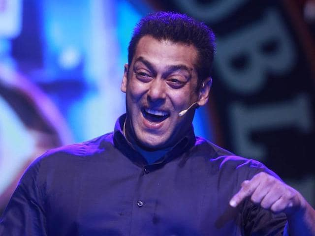 Bollywood actor Salman Khan performs during a news conference to announce the ninth season of reality television show Big Boss in Mumbai  on Monday, Sept. 28, 2015.