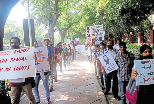 College of Art students have been protesting for over three weeks at their campus.