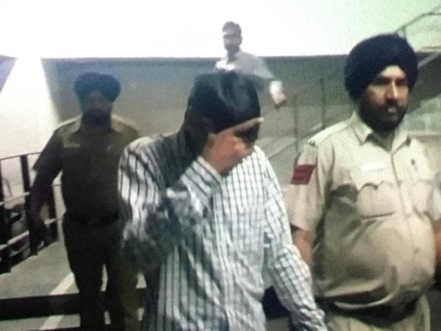 The accused, Mukesh kumar (left) and Ashok Kumar, after the sentence in Chandigarh