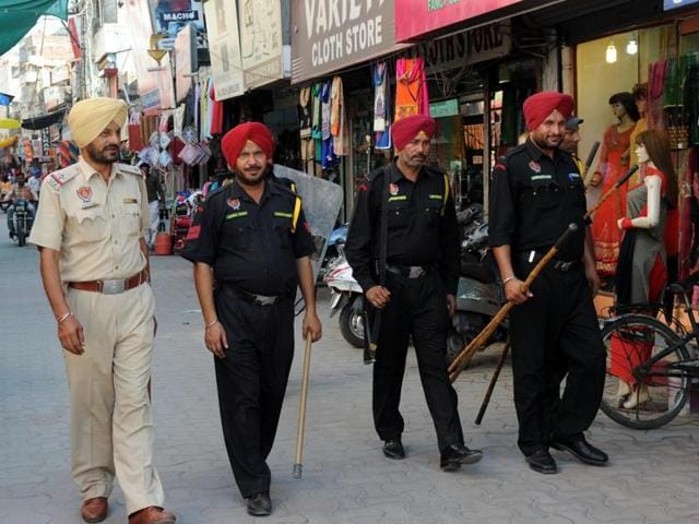 Shops open in Patiala despite the Punjab Bandh call on Wednesday.
