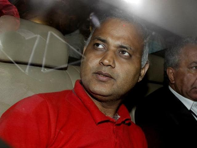 AAP Leader Somnath Bharti taken to Dwarka Court after his surrender at Dwarka North Police Station in New Delhi.