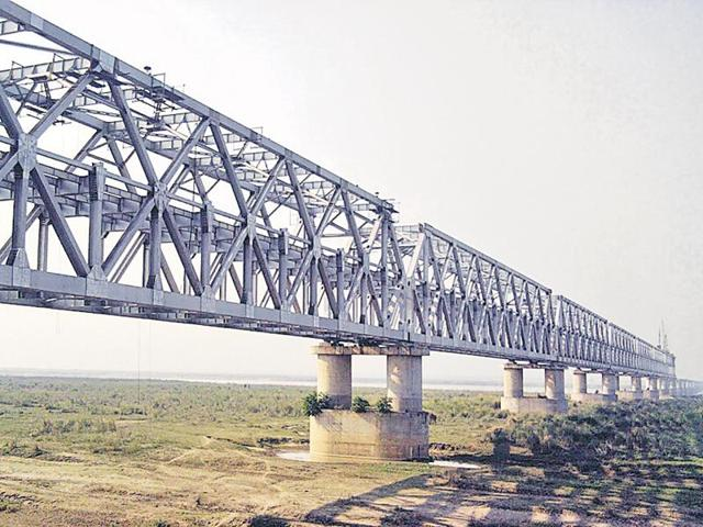 Then PM AB Vajpayee had laid the foundation of the bridge in 2002.