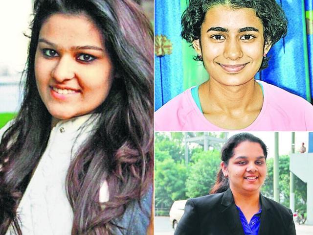 (Clockwise) Gauri Sheoran, Yashaswini Singh and Malaika Goel