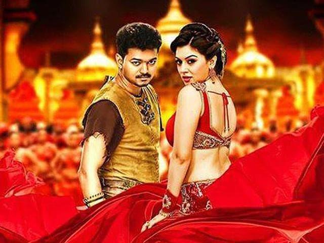 Puli is a Tamil fantasy drama starring Vijay, Sridevi, Sudeep, Shruti Haasan and Hansika Motwani.