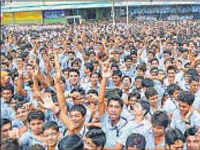 Students at Allen Career Institute which found a place in the Limca Book of Records.