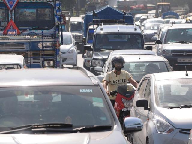 president,Chandigarh visit,traffic jam
