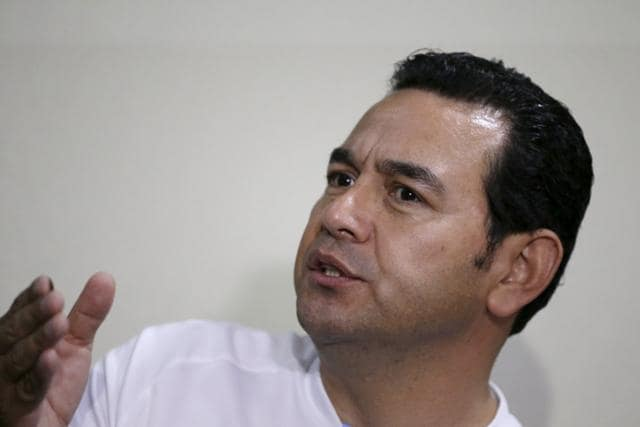 Jimmy Morales,Guatemala,Eating condom
