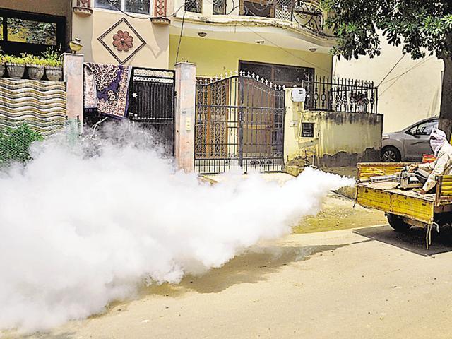 dengue,Gurgaon,fogging