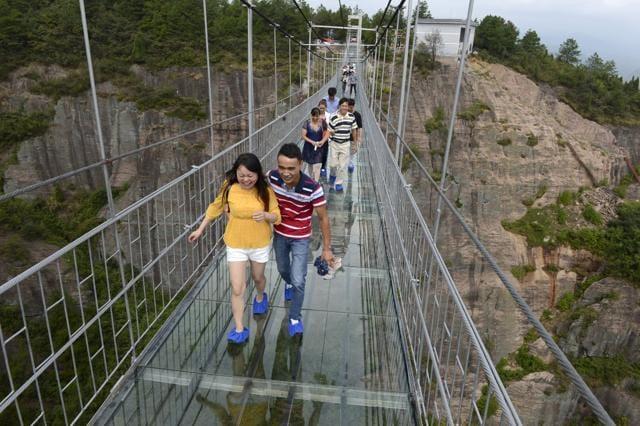 China glass bridge,glass bridge,china glass bridge video