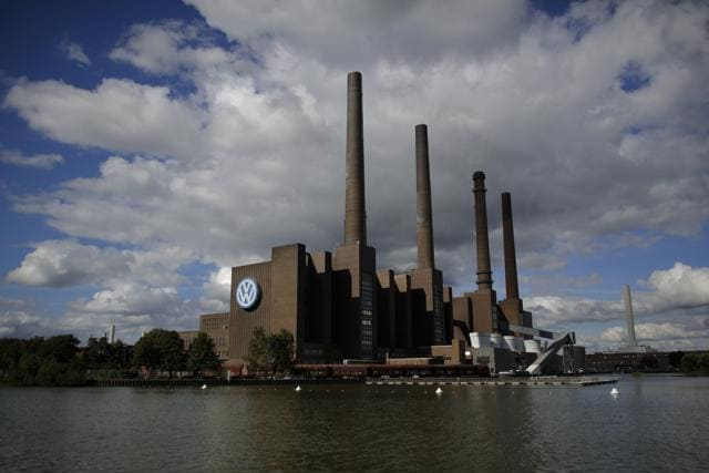 A power plant of the Volkswagen factory in the city Wolfsburg, Germany. A Volkswagen factory in Salzgitter decided to cut one shift a week, a sign of the impact made by the emissions-cheating scandal.