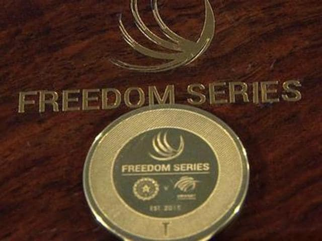 Designed exclusively for the Freedom Series, the 20 gram gold-plated sterling silver coin will be used by India and South Africa for all the formats of the game played with each other in India or South Africa for perpetuity.