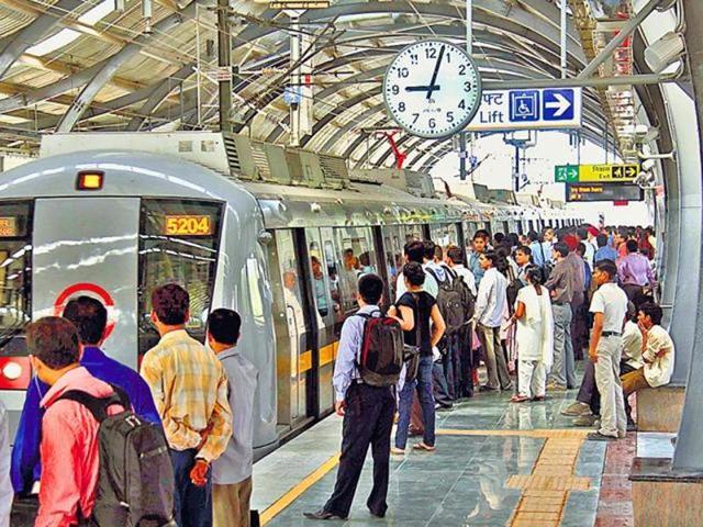 Delhi,Metro station,Rajiv Chowk shooting