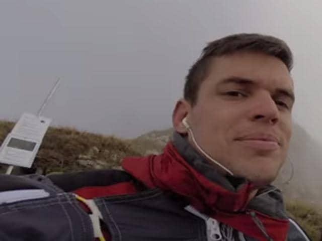 Johnny Strange, the world record holder wingsuit jumper died during a crash in central Switzerland