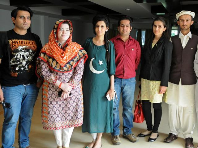 Members of Pakistani delegation during 10th Global Youth Peace Fest in Chandigarh on Thursday