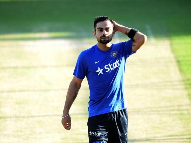 India's Virat Kohli leaves after a training session on the eve of the first T20 cricket match between India and South Africa at The Himachal Pradesh Cricket Association Stadium in Dharamsala.